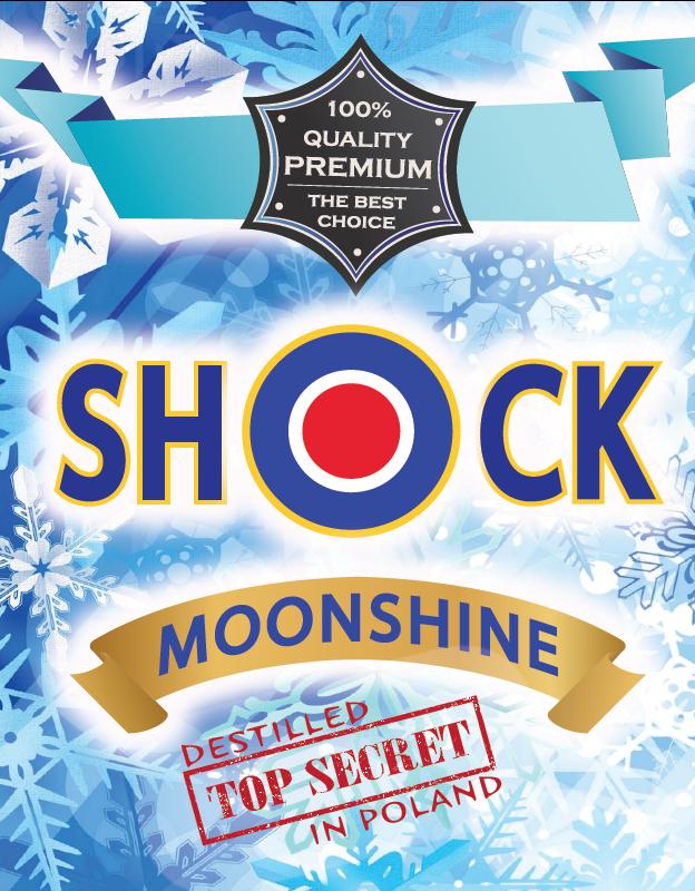 Etykiety na butelki SHOCK 10x niezwykle oryginalne