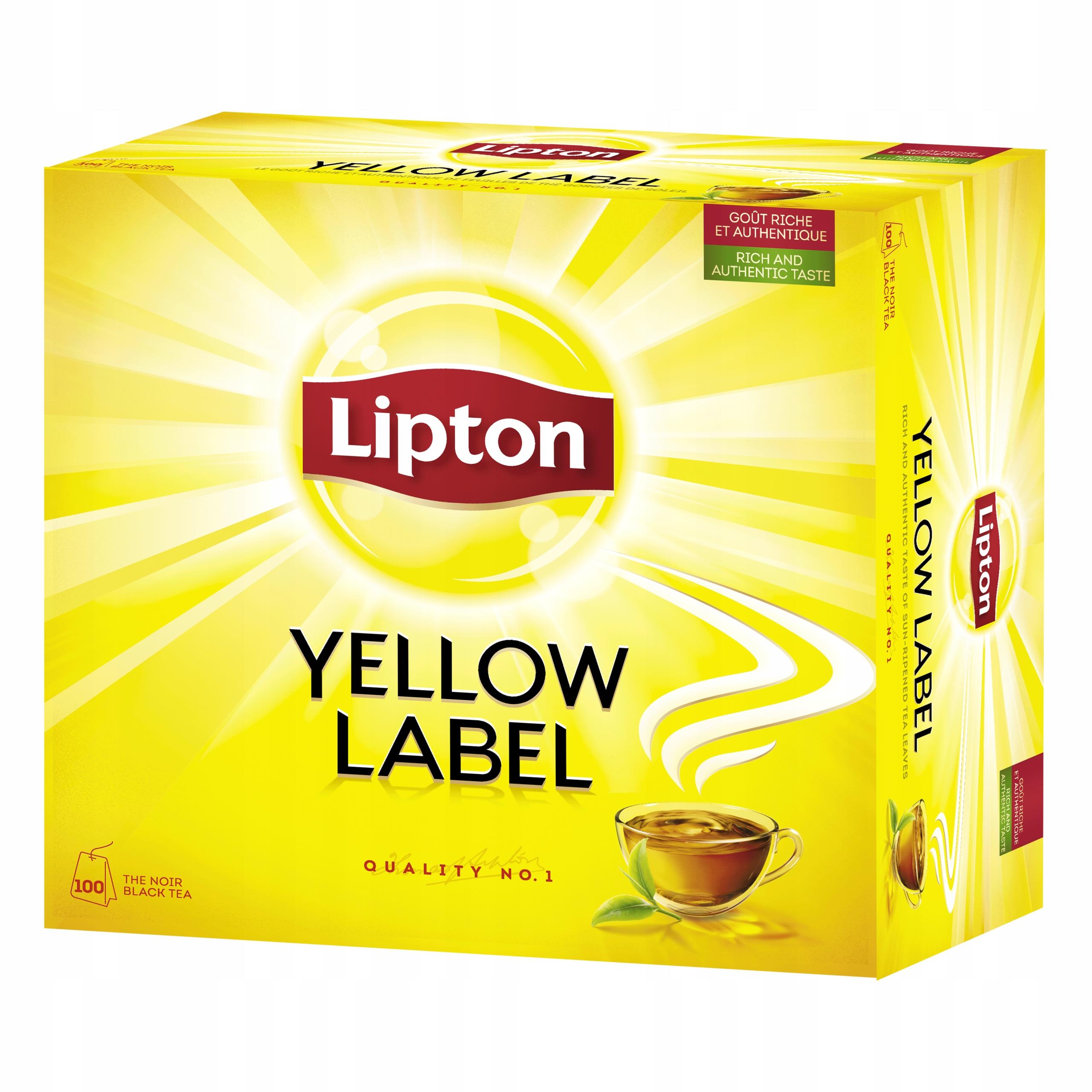 Lipton Yellow Label Tea czarna herbata 100tb 200g ...