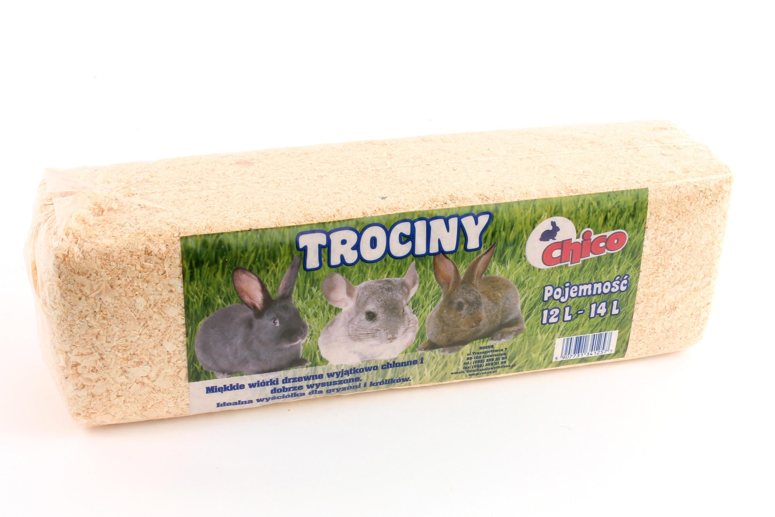 Опилки кроличьих грызунов SOFT NATURAL 12-14L