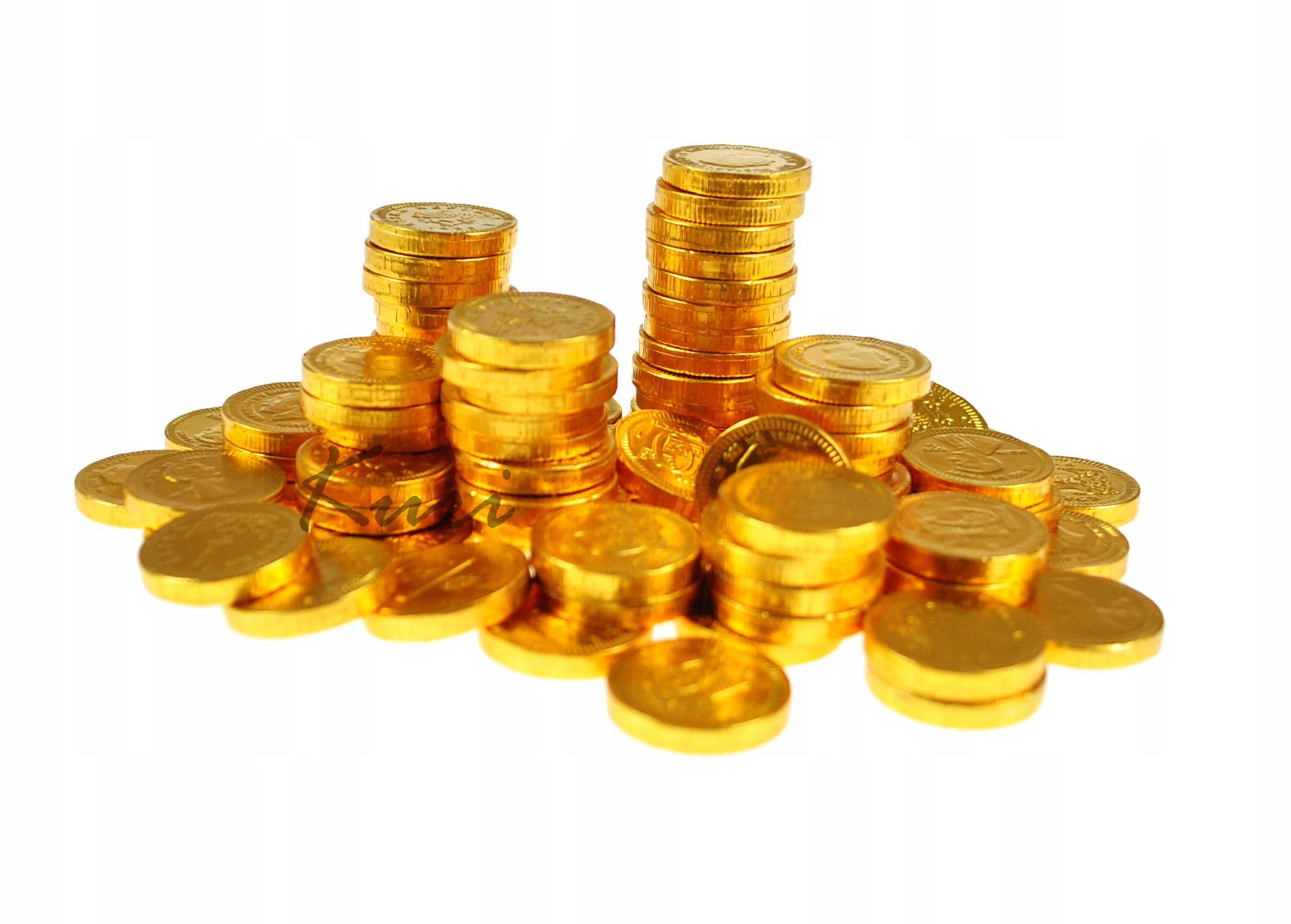 Купить Шоколадные МОНЕТЫ золотые монеты 170гр 100шт Голландия на Otpravka - цены и фото - доставка из Польши и стран Европы в Украину.