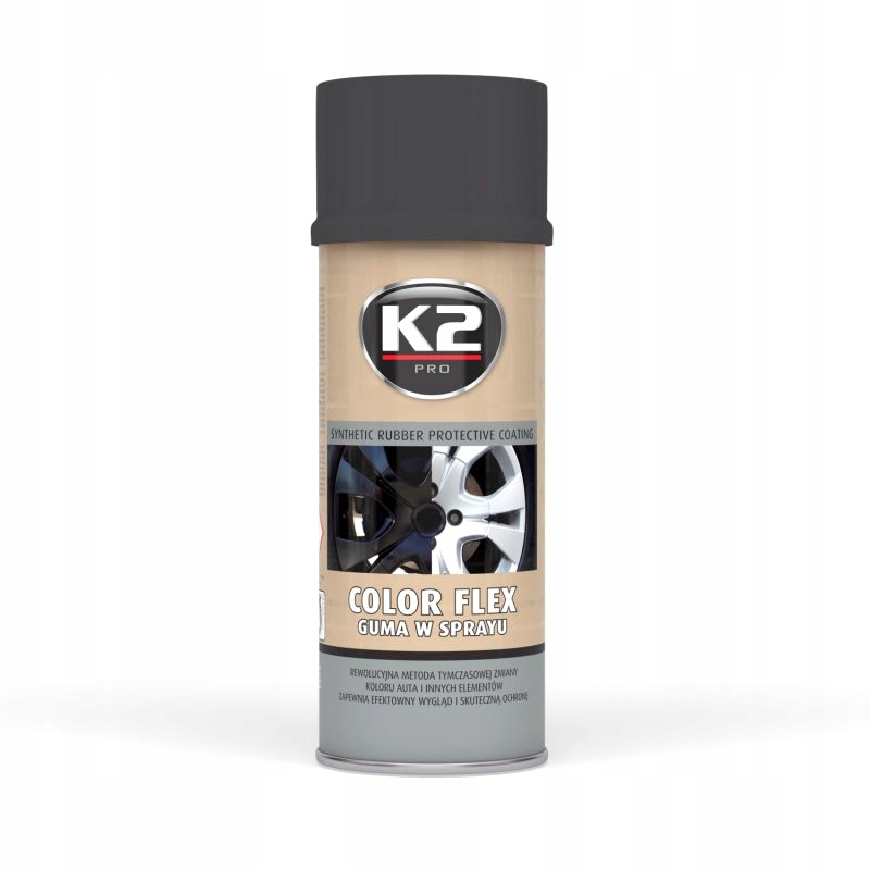 K2 COLOR FLEX - GUMA W SPRAYU - CZARNY MAT 400 ml