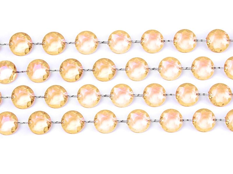 Garland Crystal Reťazec Decoration Gold