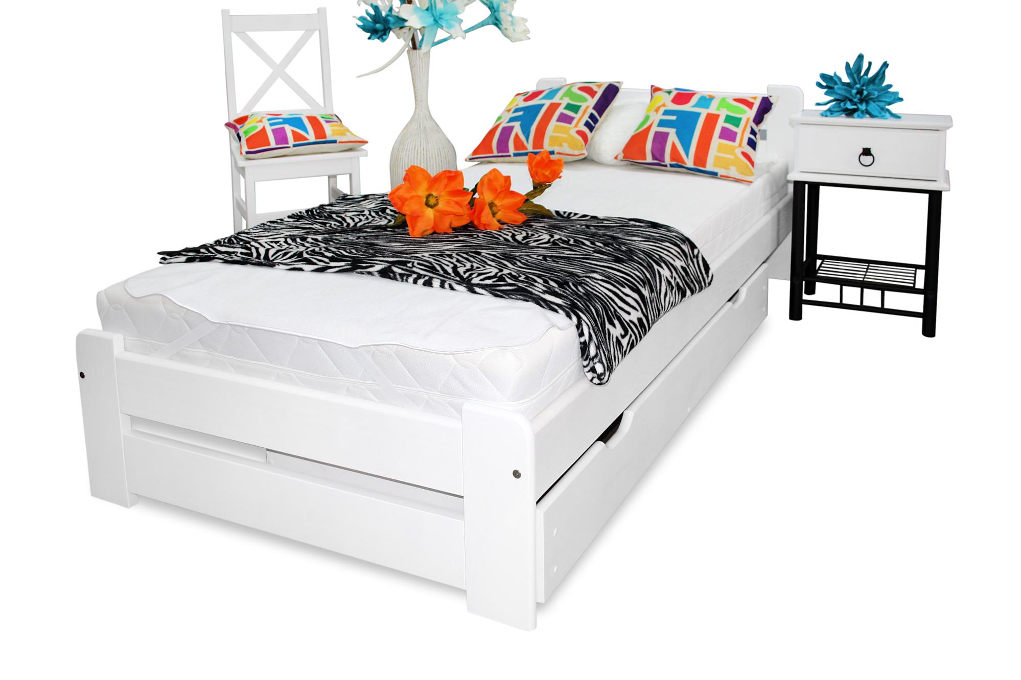 łóżko Eureka 100x200 Materac Sprężynowy Sypialnia