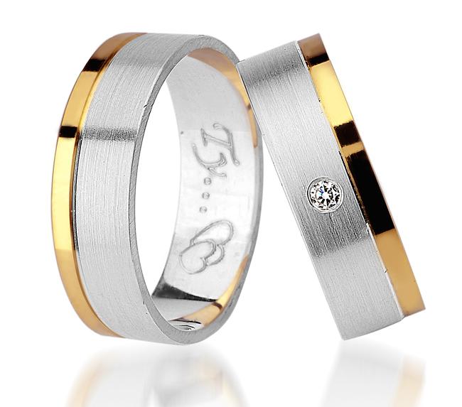 Item ENGAGEMENT RING 925 SILVER GOLD 585, SWAROVSKI