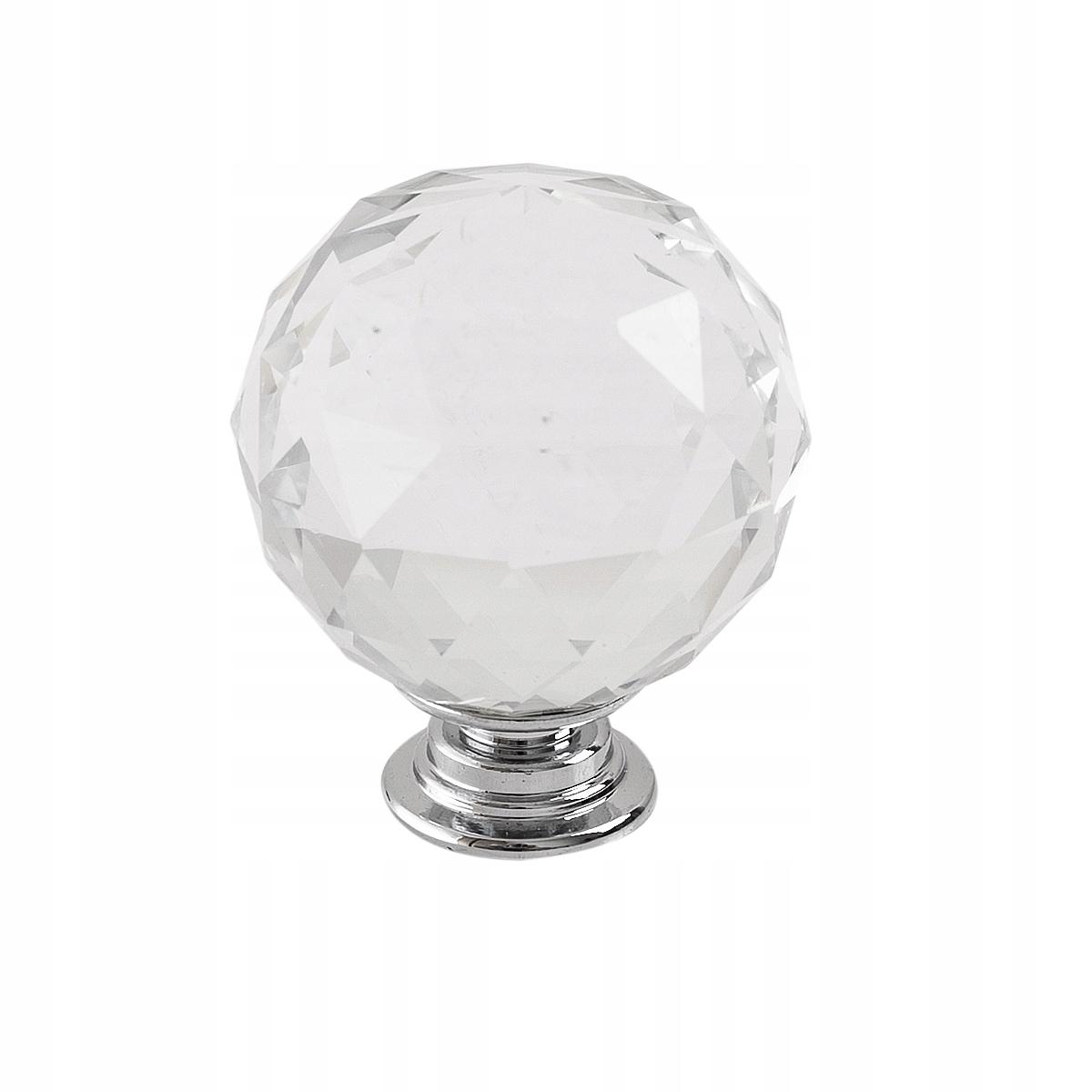 Ручка хрустальный Держатель для мебели 40 мм кристалл