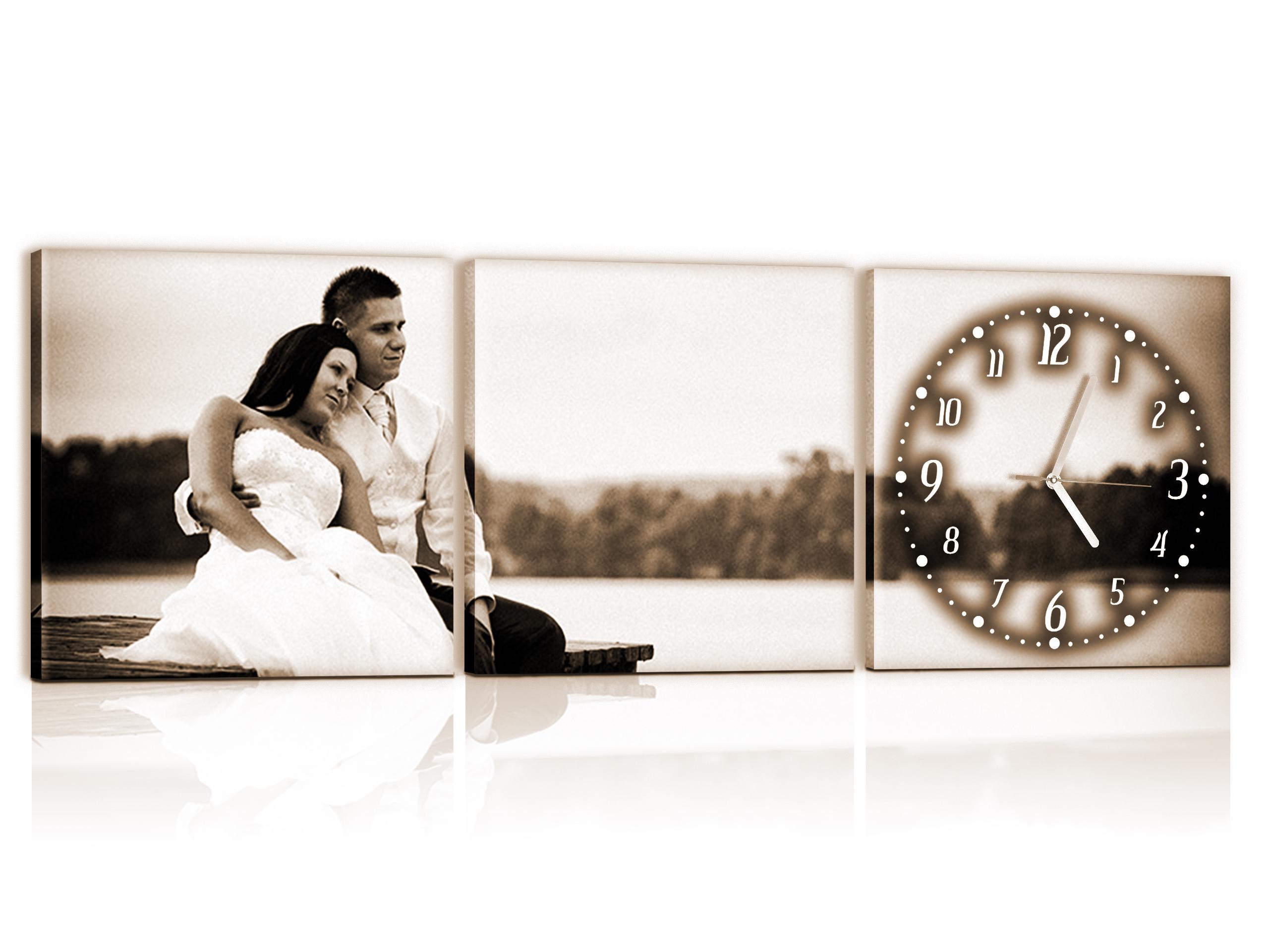 часы на фото холсте работе был всего