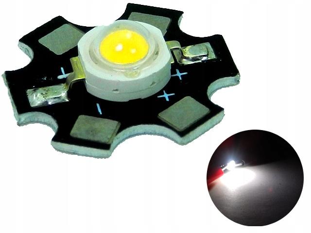 Dioda POWER LED 3W White Full Spectrum PCB 45mil