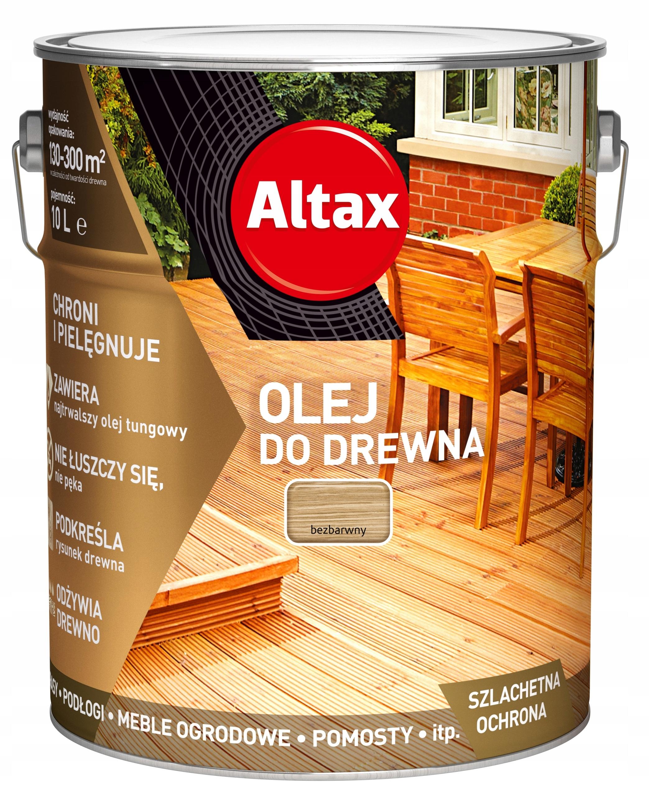ALTAX масло для дерева, бесцветный, 10 л
