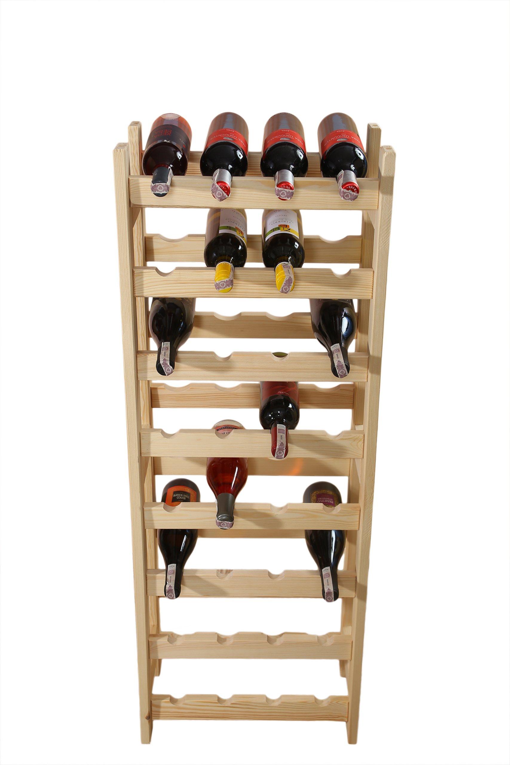 Книжный шкаф, винный стеллаж 32 бутылки (4х8), производитель