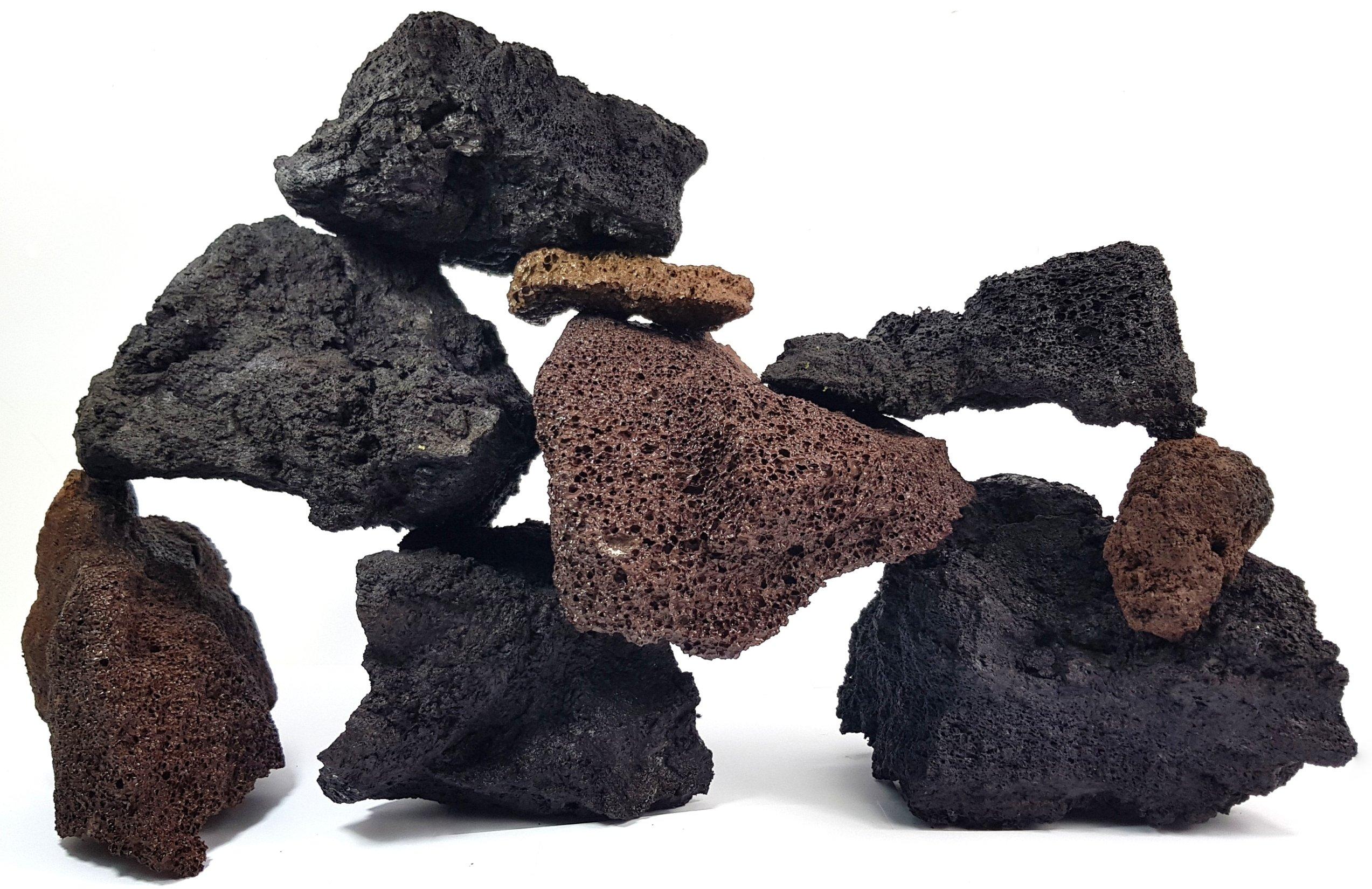 LÁVOVÝ kameň VULKANICKEJ horniny pre Akvárium 25 kg