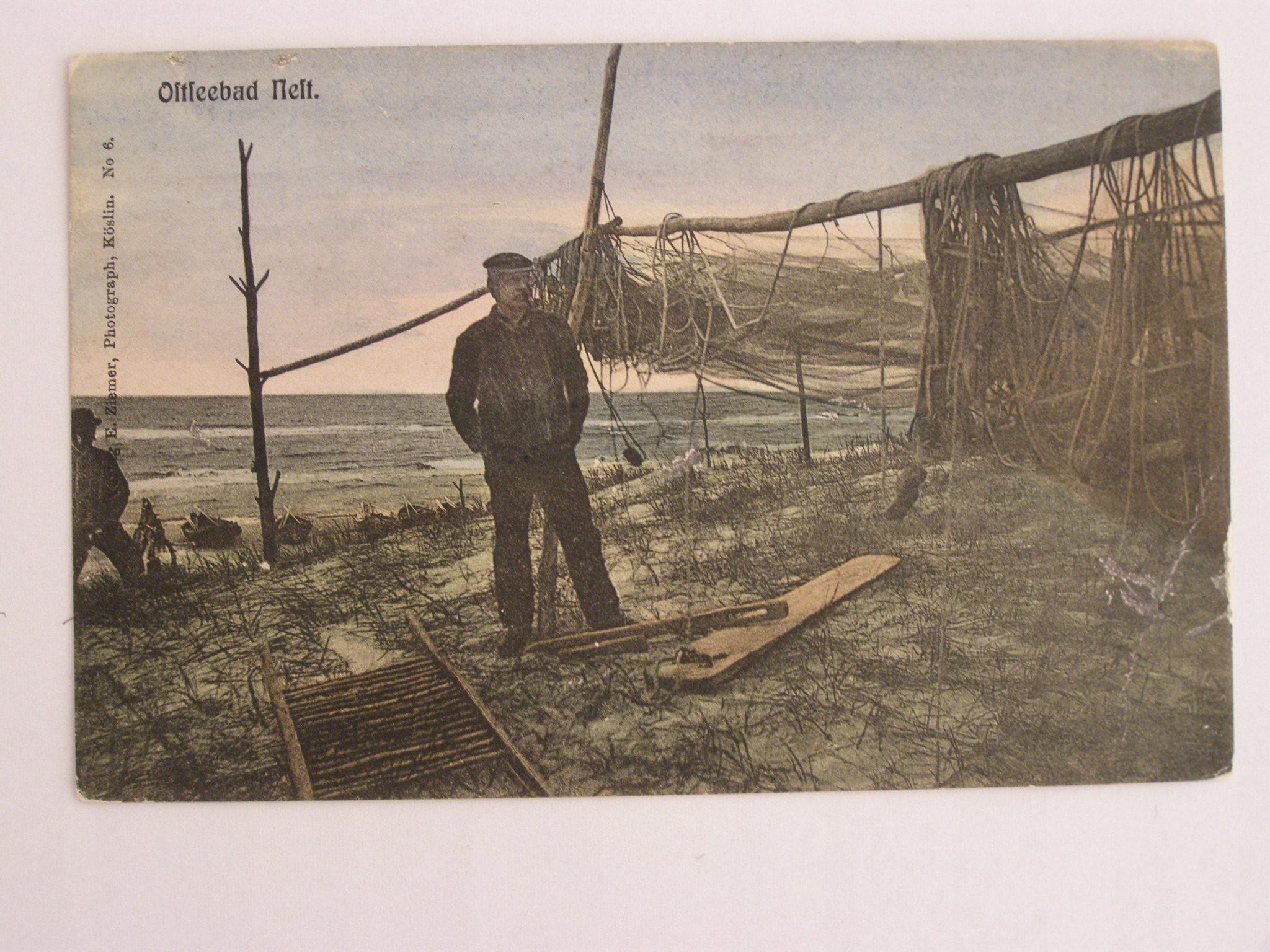 Unieście Nest rybak sieci Mielno Koszalin ok 1910