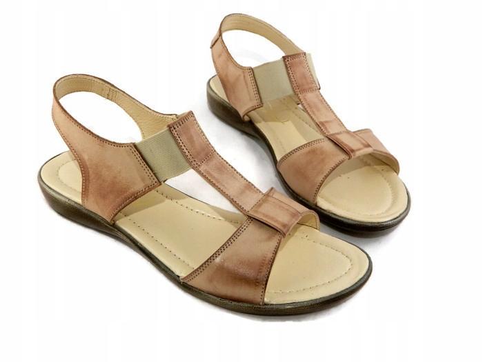 Sandały Rzymianki MIX Kolorów Skóra Naturalna 36