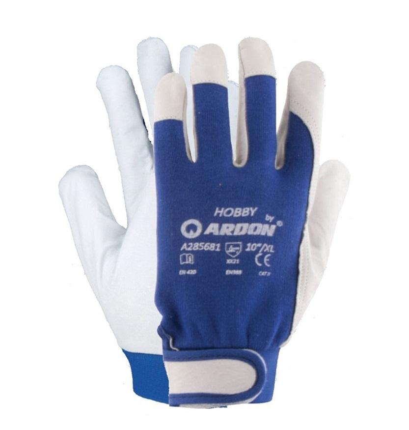 Рабочие перчатки Кожа Козья Кожа HOBBY '10