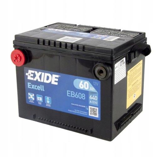 аккумулятор exide eb608 12v 60ah 640a