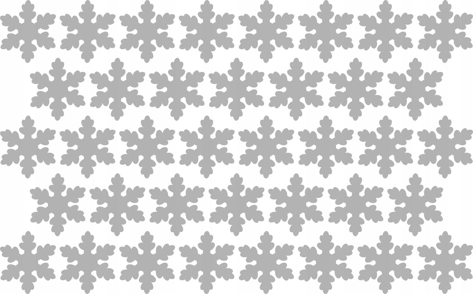 Nálepky Stars Snowflake 5cm 38ks na okne