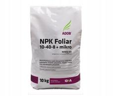 FOLIAR NPK 10/40/8 + mikro Nawóz Dolistny 10KG