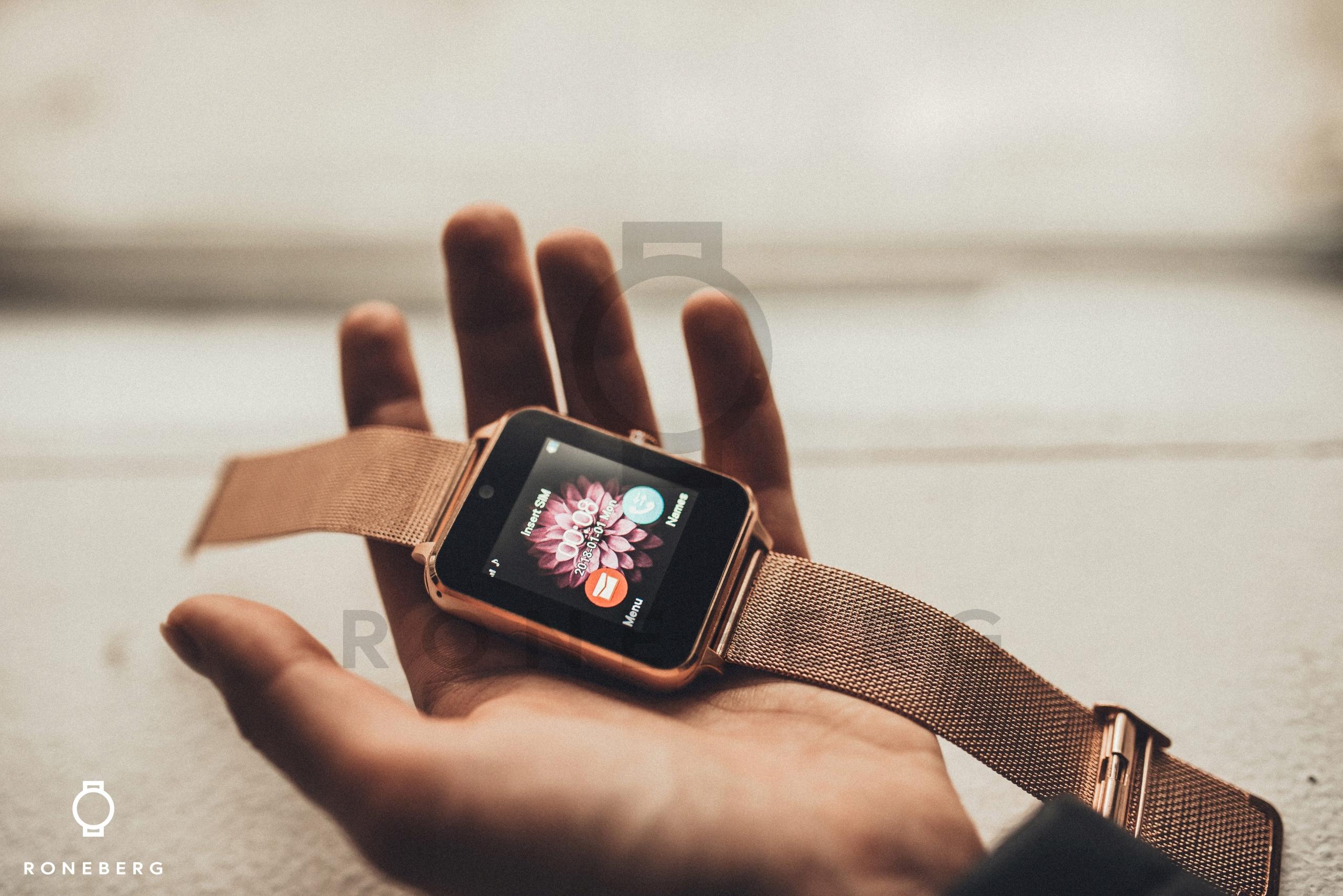 smartwatch zegarek roneberg r60 złoty