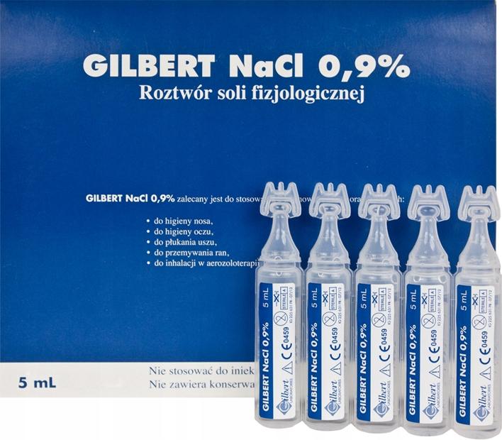 Солевой раствор NaCl 0,9% для детей 5х5 мл.