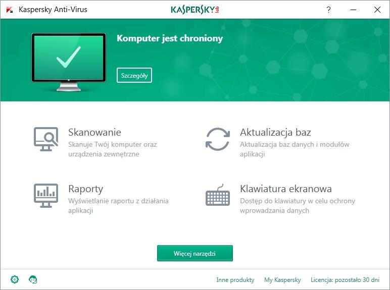Kaspersky Anti-Virus 1 komputer 90 dni PL Nazwa Kaspersky Anti-Virus 1 komputer 90 dni