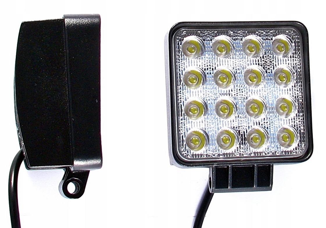 лампа рабочая галоген 16 led 48w 12v24v прожектора