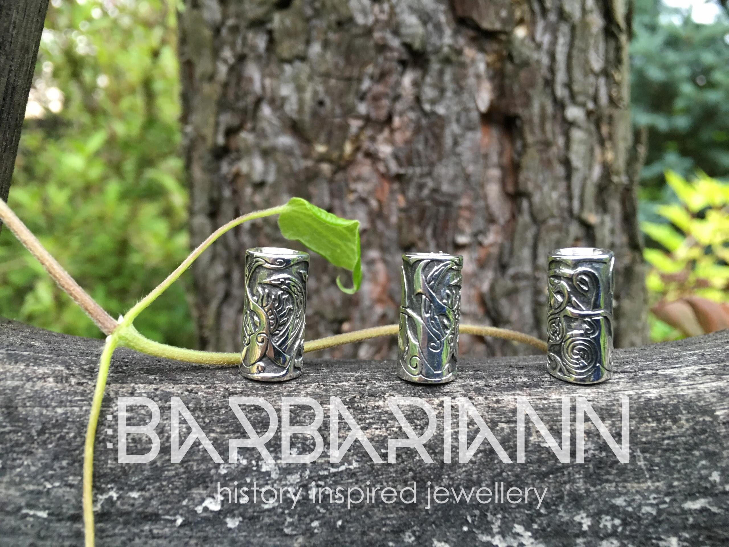 ELESSAR - Бусина для бороды викингов - серебро