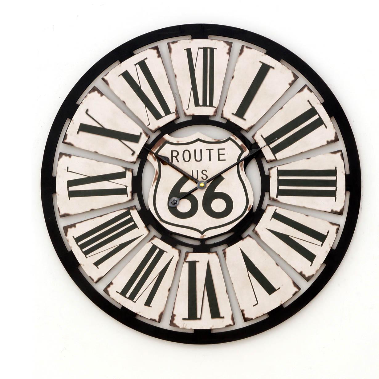 Zegar ścienny drewniany Route 30 cm VINTAGE