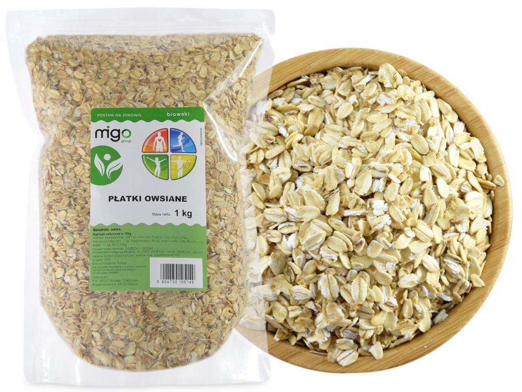 Овсяные хлопья 1 кг Натуральный завтрак - MIGOgroup