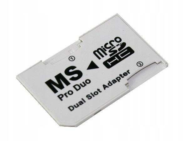 PSP22 Adaptér 2x Micro SD na MS DUAL PSP