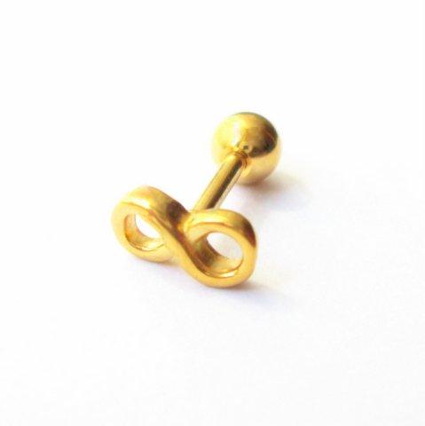 Item Earrings for cartilage ear GOLD INFINITY