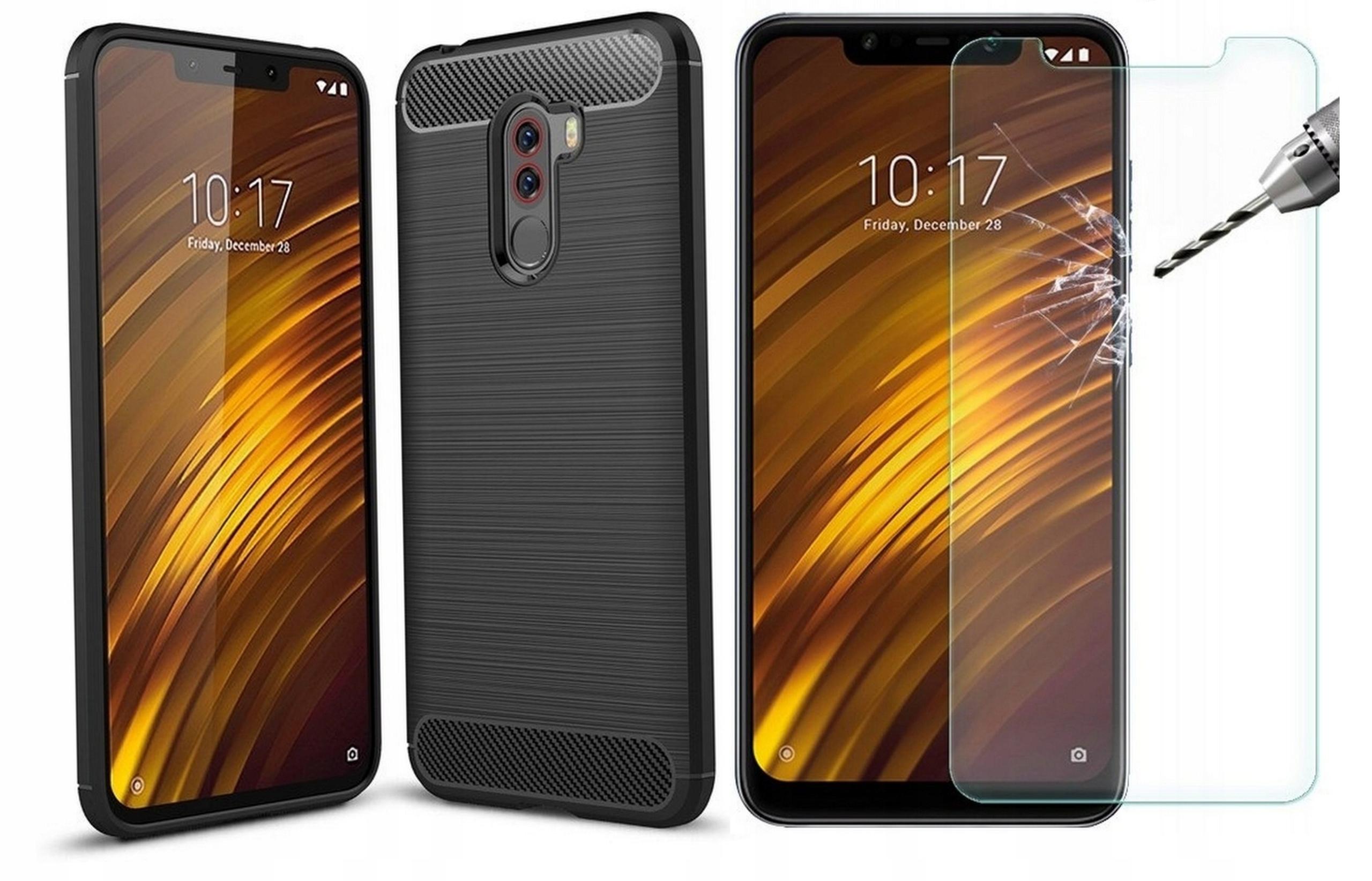 Tpucarbon Case Etui do Xiaomi Pocophone F1 +szkło