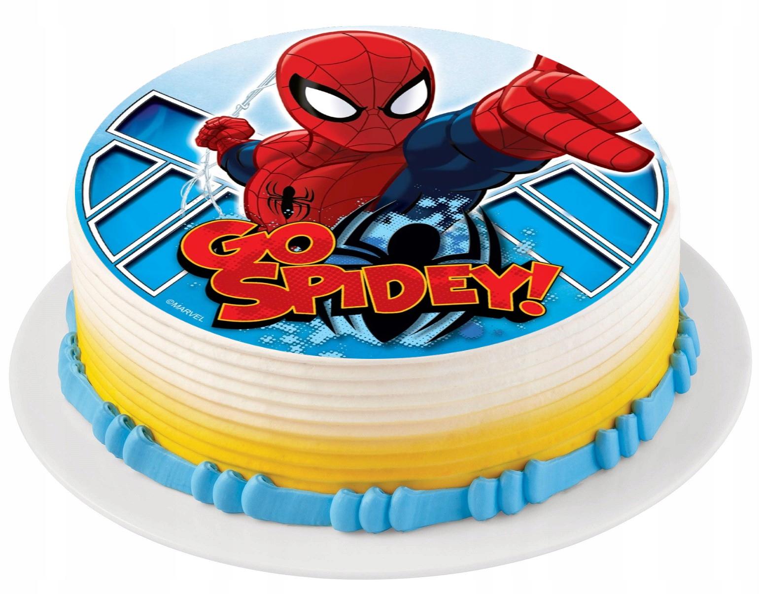торты с вафельными картинками человек паук