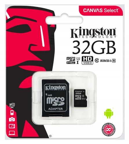 Item KINGSTON Memory Card micro SD 32GB C10 + ADAPTER