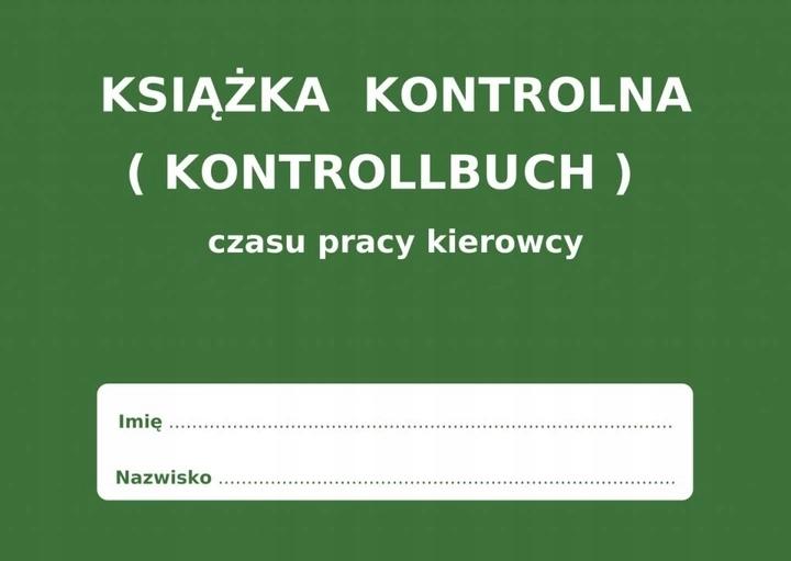 KNYGA LAIKO DARBO VAIRUOTOJO KONTROLLBUCH PL - DE