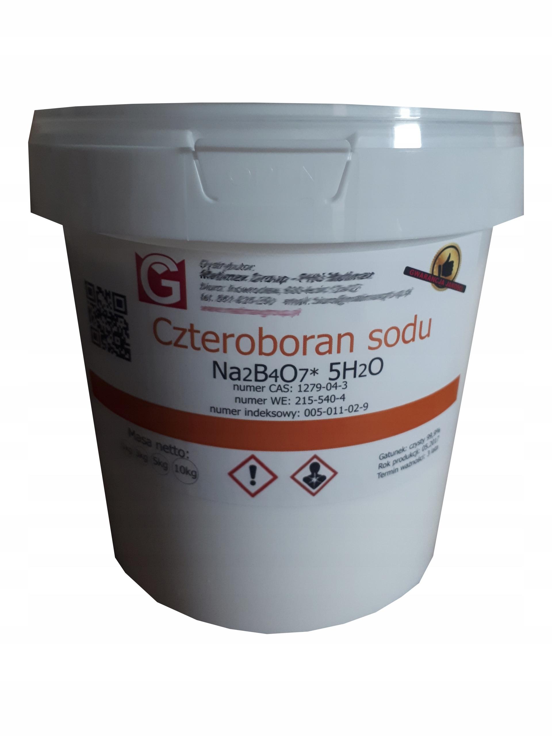 Boraks Borax czysty Czteroboran sodu 5-wodny 5kg