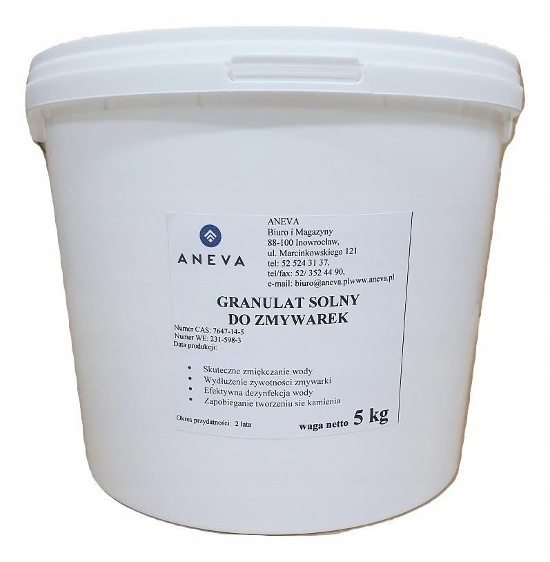 Соль гранулированная для посудомоечных машин ГРАНУЛЫ, ведро 5 кг