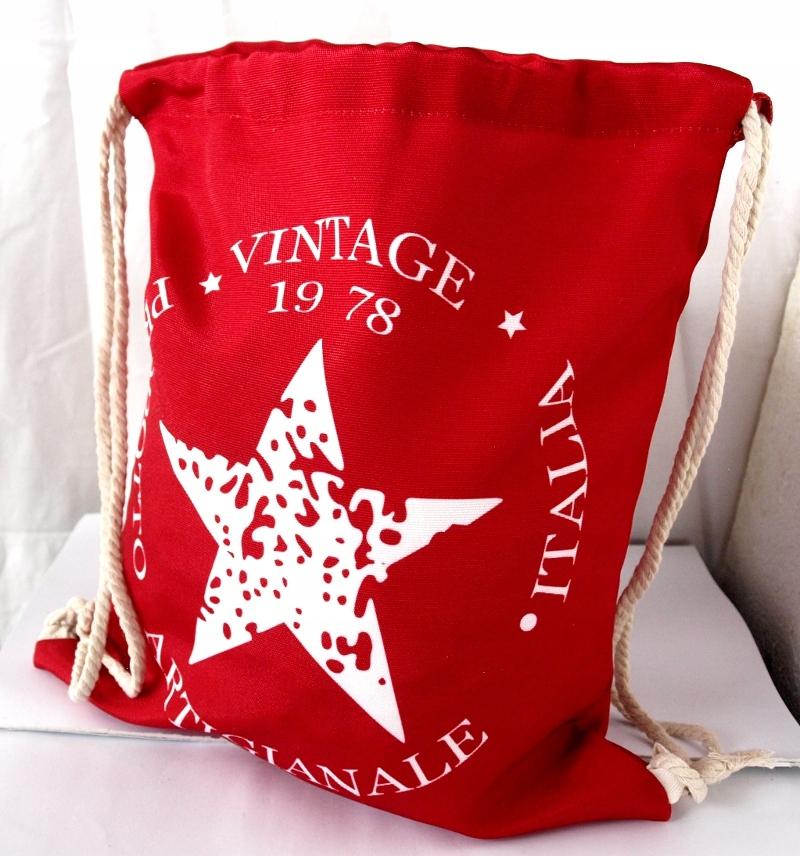 Talianska TAŠKA vintage červená hviezda