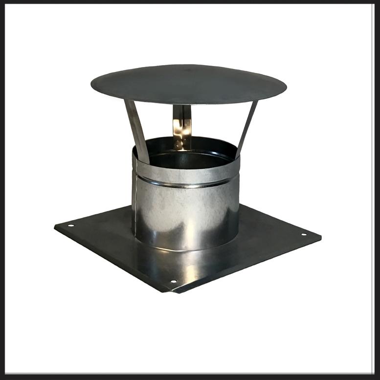 навес для дымохода / для камина из гальваники fi 150