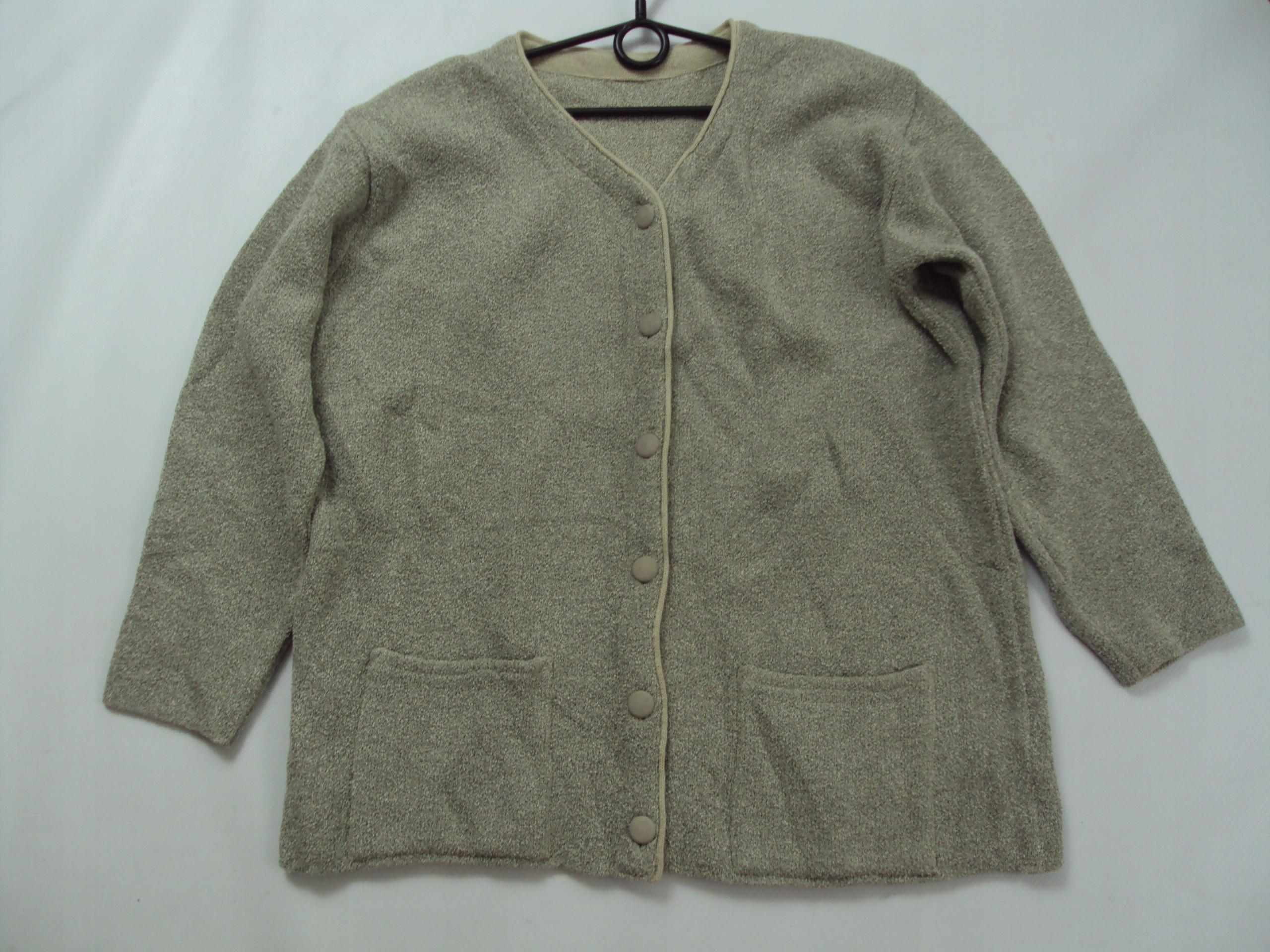 996c4c42 BUKLOWY ciepły sweter z kieszeniami r.44/46