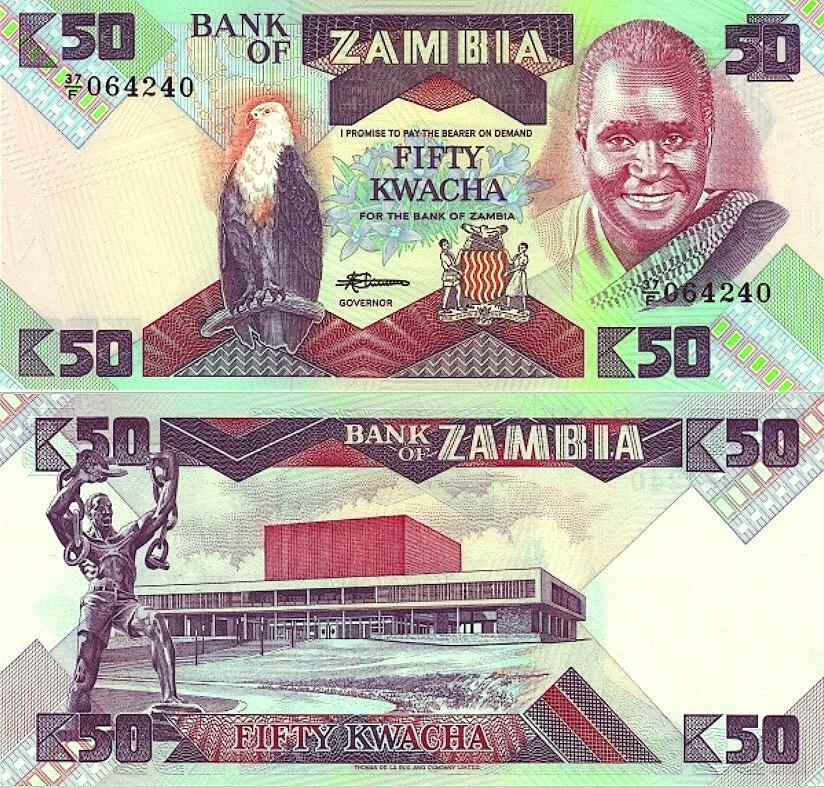 # ZAMBIA - 50 KWACHA - 1988 - P28 - UNC