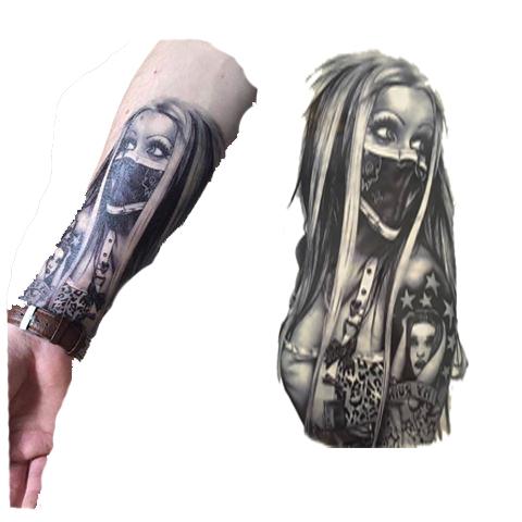 Item Tattoo leg sleeve worn by a woman in a scarf GIRL