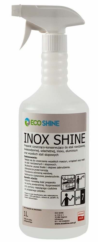 INOX SHINE 1L для НЕРЖАВЕЮЩЕЙ СТАЛИ Eco Shine