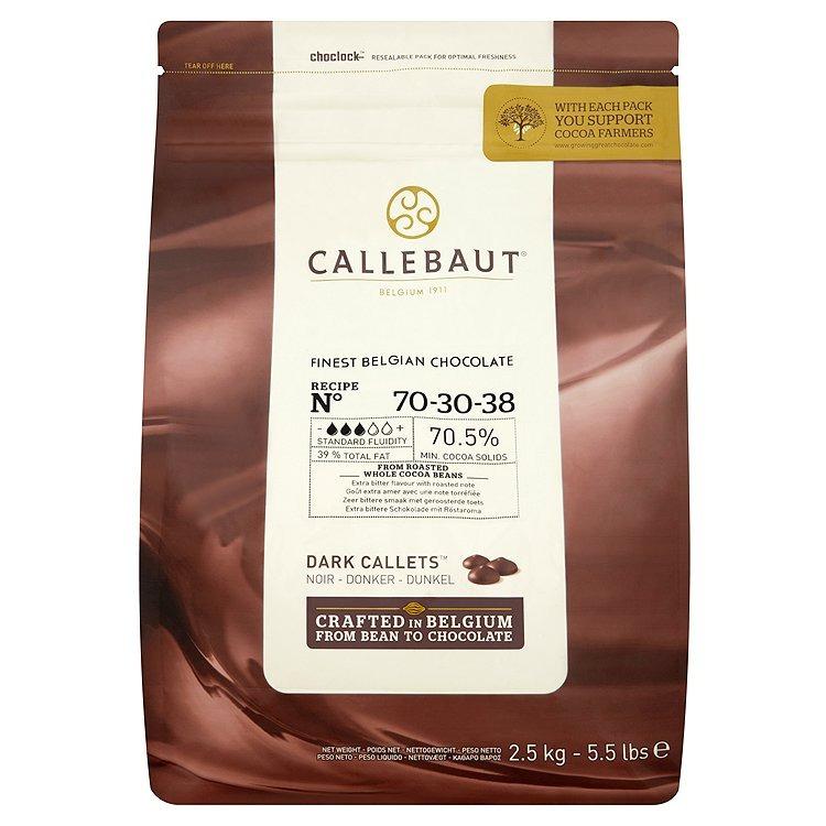 Tmavej horkej čokolády, silné 70% Callebaut 2,5 kg