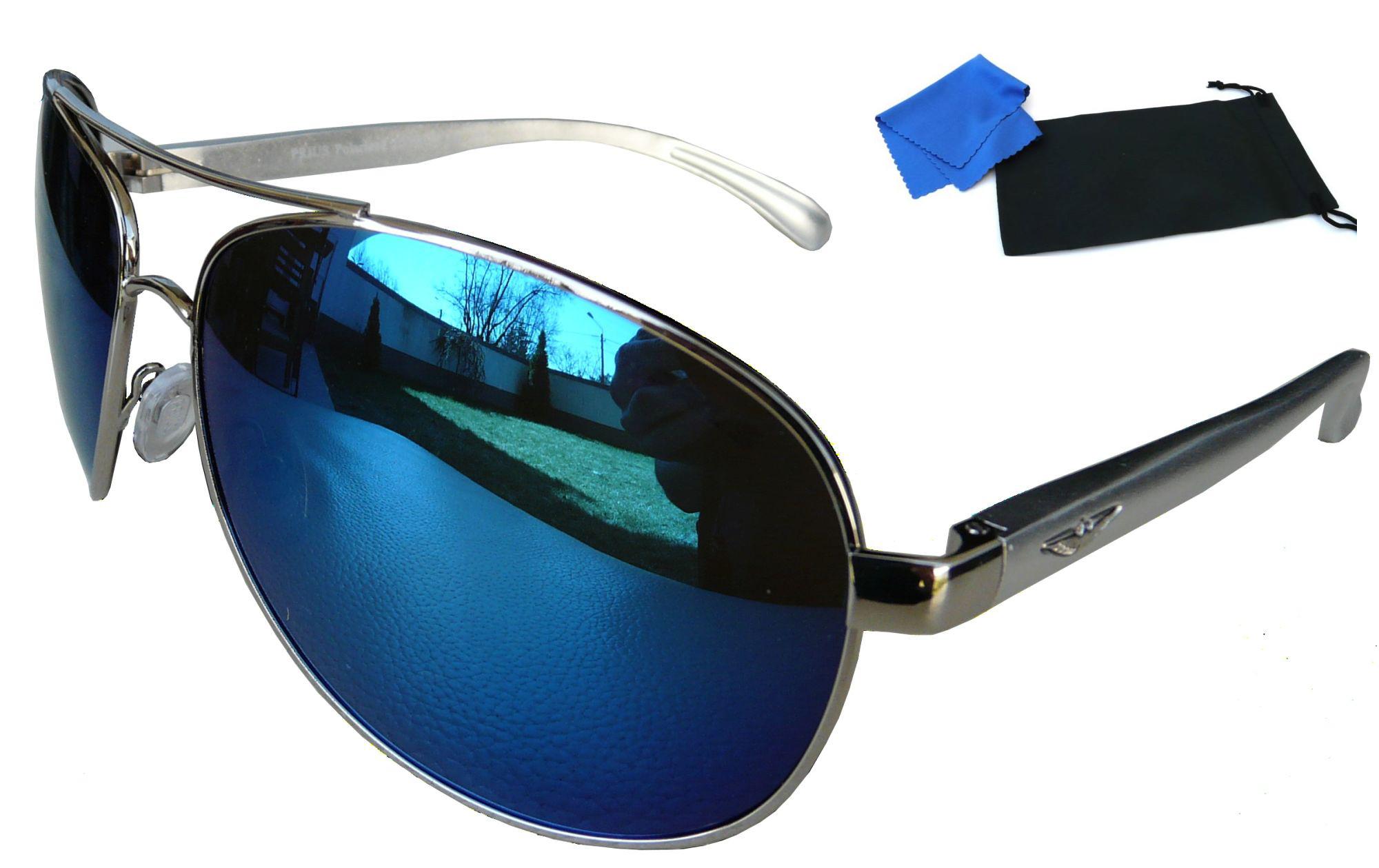 Męskie okulary polaryzacyjne pilotki z filtrem kup online