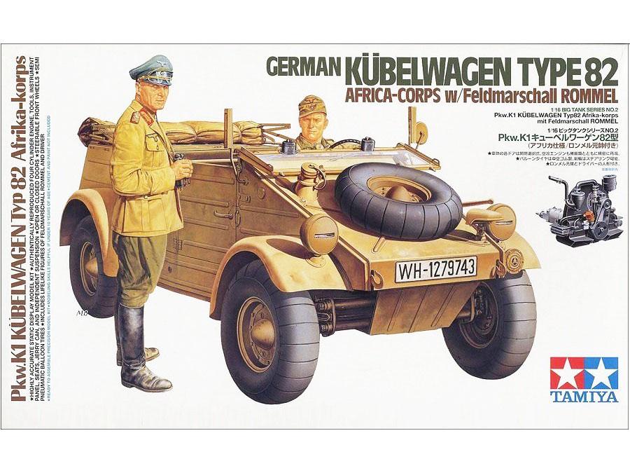 VW Kubelwagen Typ 82 Pkw.K1 model 36202 Tamiya