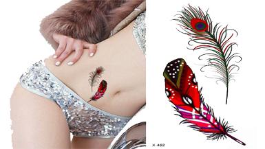Tatuaże Tymczasowe Zmywalny Piórka Pióro Kolor Paw