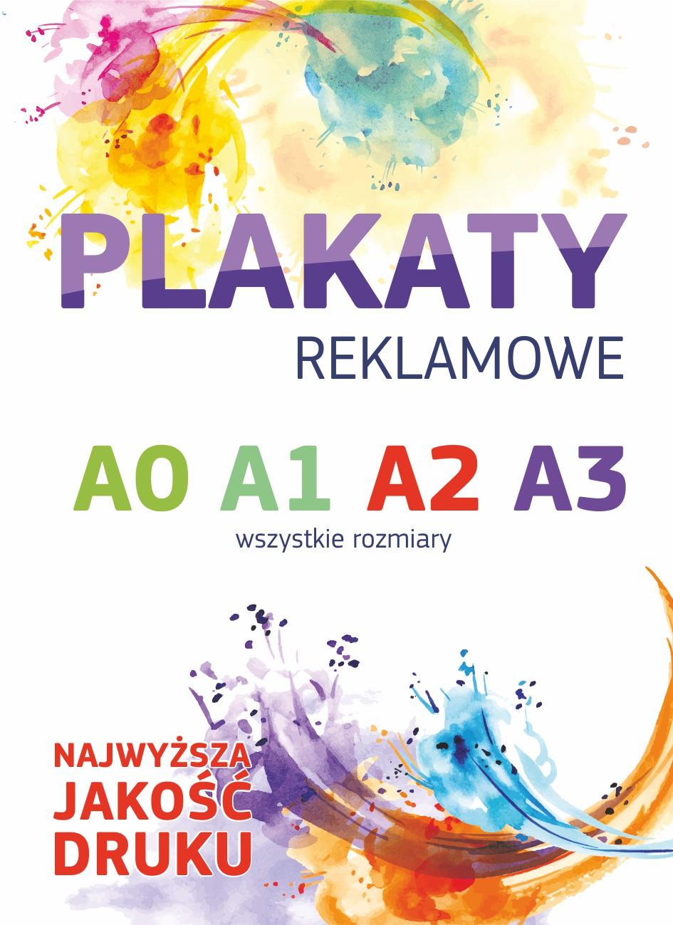 Plakaty Reklamowe A3 A2 A1 A0 Dowolny Rozmiar