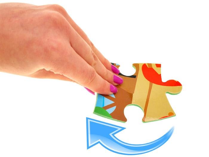 Piankowe miękkie puzzle zwierzątka autka ZA1389 Płeć Chłopcy Dziewczynki
