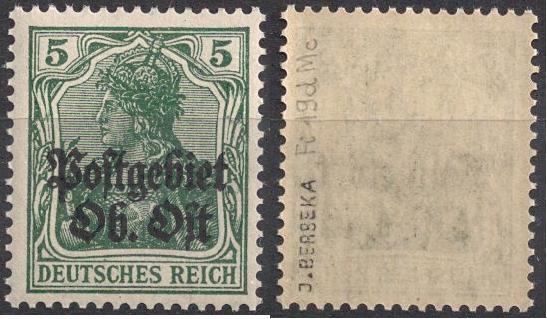 ON Postgebiet 1916 Ob Ost Fi 19d ** Berbeka
