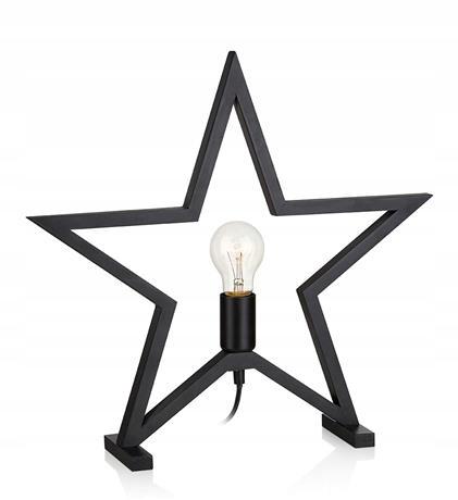 Vianočná hviezda Ornament čierna 44cm MARTA
