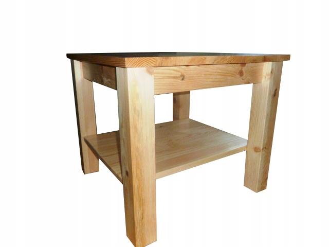 Stół drewniany sosnowy 90x90 ELEGANCKI NOWOCZESNY Kształt blatu kwadratowy